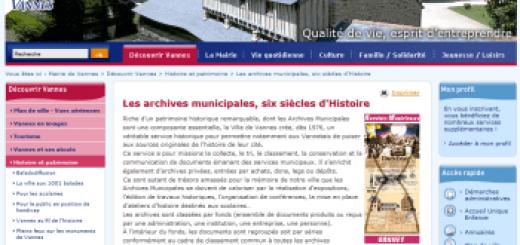 Les Archives municipales de la ville de Vannes.