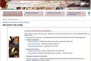 Archives départementales en ligne.