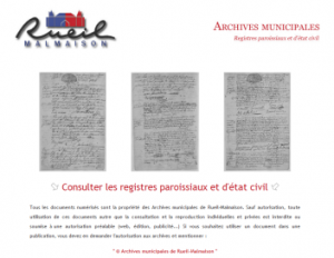 Archives de Rueil Malmaison