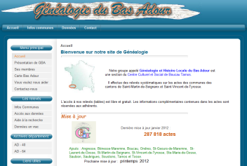 Généalogie du Bas Adour
