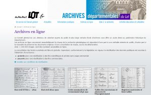 Archives du Lot