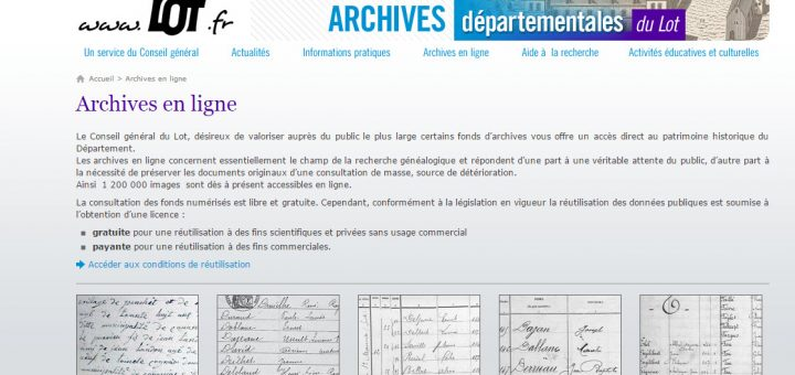 Archives du Lot