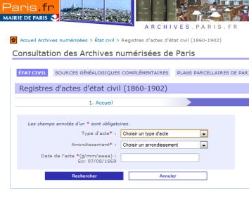 Tables décennales Paris