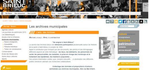 archives de Saint Brieuc