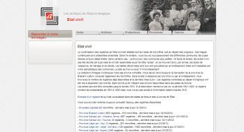 Etat civil Belge