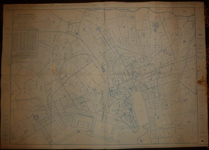 Carte cholérique de Marseille de 1884 petite