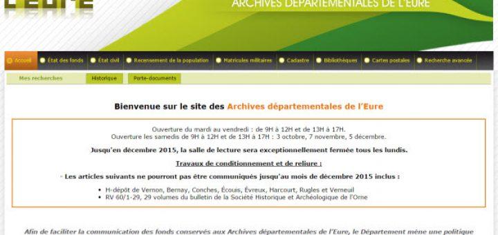 archives de l'Eure