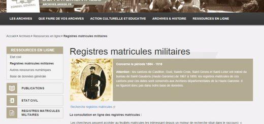 registre matricule Ariège