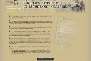 registres matricules Gers