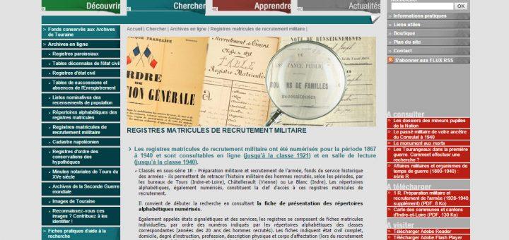 archives 37 registres matricules