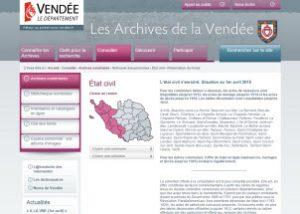 état civil Vendée