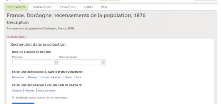 recensement Dordogne
