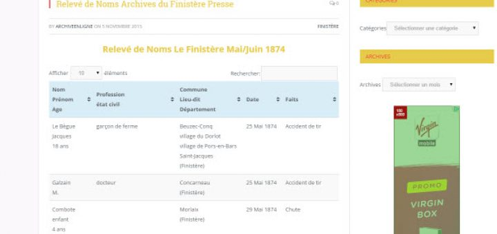 archives presse Finistère