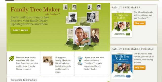 La fin du logiciel de généalogie «Family Tree Maker»