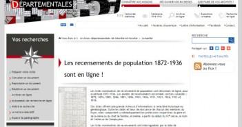 Recensements 1872 1936 Meurthe et Moselle