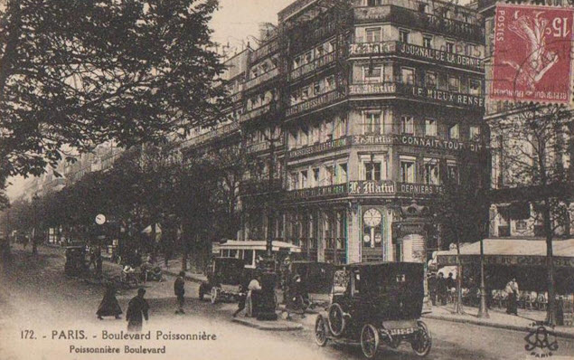 Paris boulevard poissonnière