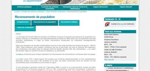 recensements Ardèche