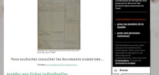 registres matricules du Gard