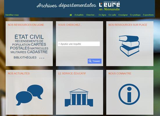 Archives de l Eure, un nouveau portail en ligne - Archive en ligne d6fb0af986e5