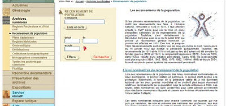 recensements Aisne