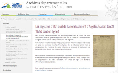 registres Argelès Gazost