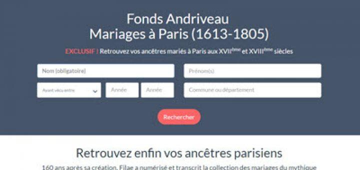 mariage de Paris entre 1613 et 1805