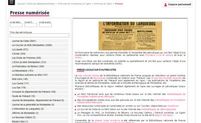 archives presse Herault