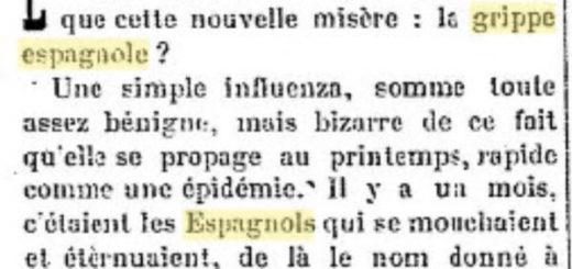 Grippe Espagnole aout 1918