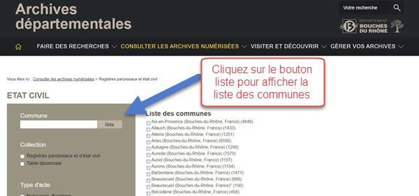 Liste communes du 13